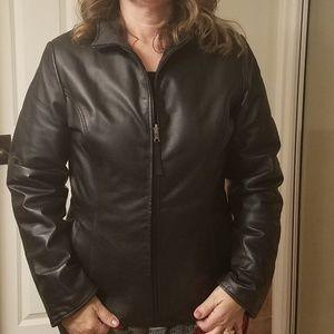 Wilsons Leather Maxima reversible black jacket